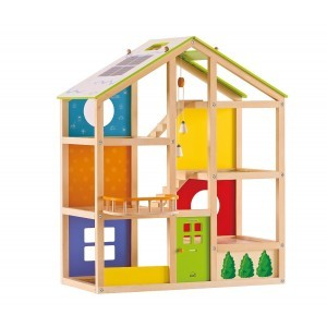 Wooden dollhouse All Season (furnished) - Hape (E3401)