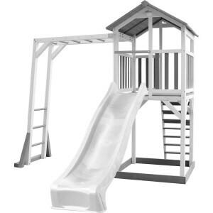 AXI Beach Tower Climbing frame with Gray / white - White Slide