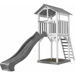 AXI Beach Tower Play Tower Gray / white - Gray Slide