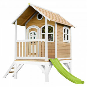 AXI Classic Tom Playhouse Brown / White - Lime Green Slide