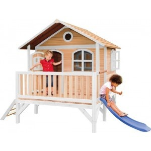Axi Classic Stef Playhouse Brown / White - Blue Slide