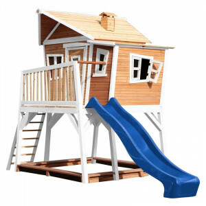AXI Crooked Max Playhouse Brown / White - Blue Slide
