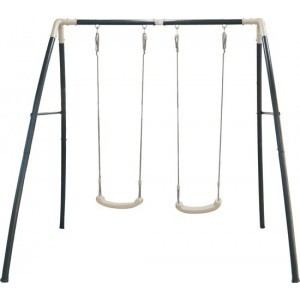 Double Swing Anthracite, cream / powder coated steel, galvanized inside and out / 210 X 210 X 217 Cm / 5 year warranty! - AXI (A030.242.00)