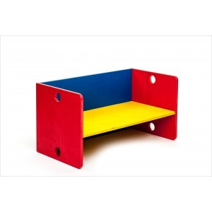 Wooden Colored Cube Bank - ADO Toys (ADO Toys-1)