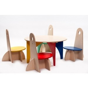 Wooden Apollodesign Set 4 Colors Execution - ADO Toys (ADO Toys-15)
