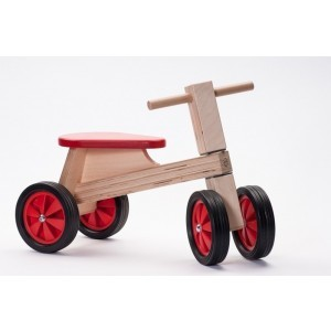 Wooden Balance Red Bike - ADO Toys (ADO Toys-17)