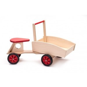 Wooden Cargo Bike Red - ADO Toys (ADO Toys-22)