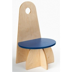 Wooden Designer Chair With Backrest Blue - ADO Toys (ADO Toys-9)