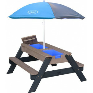 AXI Nick Sand & Water Picnic table Anthracite / gray - Parasol Gray / blue - FSC Wood