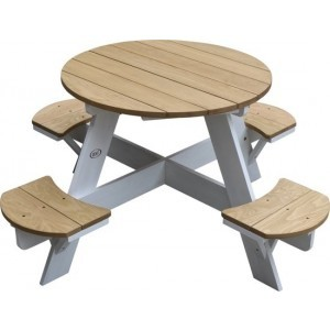 Axi Ufo Picnic Table Round Brown / White