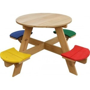 Axi Ufo Picnic Table Round Rainbow