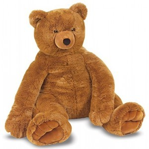 Large brown plush bear Ursus - Melissa & Doug (12138)