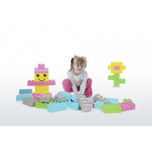 Wise Big Block Set Pastel Colours (42 Pieces)
