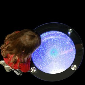 Round Bubble Table With Colour Changing Led Lights Sensory Furniture Incl. Remote Control