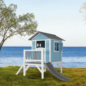 AXI Beach Lodge XL Playhouse Caribbean blue - Gray Slide