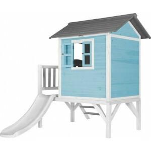 Axi Beach Lodge Xl Playhouse Caribbean Blue - White Slide