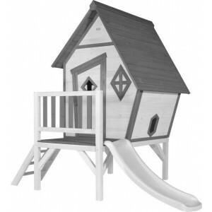 Axi Beach Cabin Xl Playhouse Gray / White - White Slide