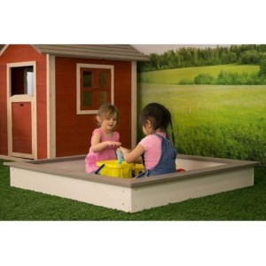 Sandpit 127x127 cm wood brown and white - Sunny (C052.001.00)