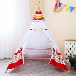Sunny LED Tipi Tent Red / white