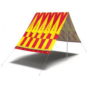 Sun screen cloth 'Cirque Du Sol' - FieldCandy (SS.CDS.Y)