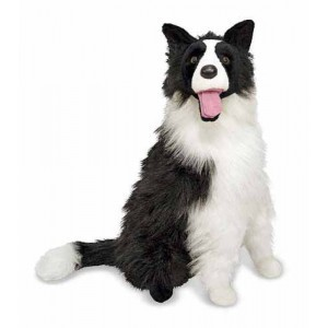 Large Plush Dog Border Collie Kelby