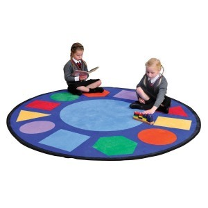 Geometric Shapes Learning Rug – Round - Liberty House Toys (CPR406)
