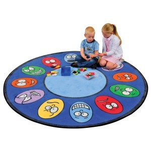 Expressions Learning Rug – Round - Liberty House Toys (CPR436)