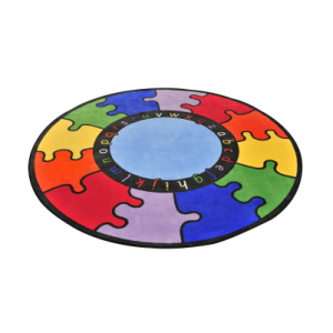Abc Rainbow Puzzle Learning Rug – Round - Liberty House Toys (CPR497)