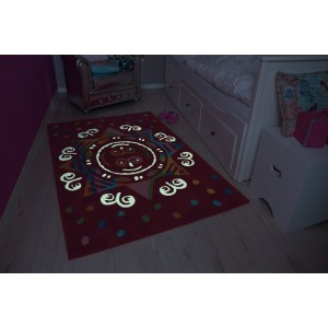 Children's Carpet Red Mandala (110 x 160cm)