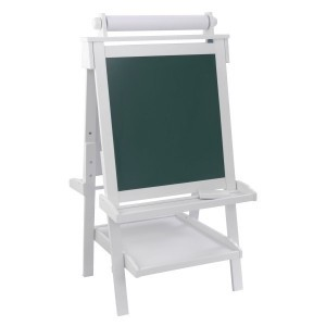 Deluxe Wooden Adjustable Easel (white) - Kidkraft (62040)