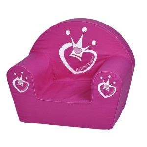 Roze children's fauteuil Crown
