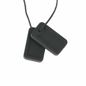 Chewigem Chewing Necklace – Black Dog Tags