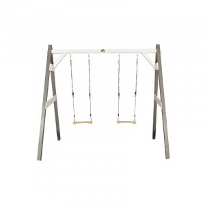 Wooden Double Swing (gray / white) - AXI (A030.139.00)