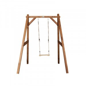 Wooden Single Swing (brown) - AXI
