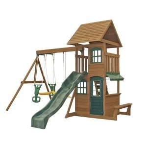 Windale Climbing Frame Outdoor Wooden Play Center - KidKraft (F26405E)