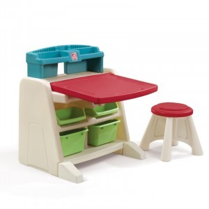 Flip & Doodle Easel Art Desk with stool - Step2 (836500)