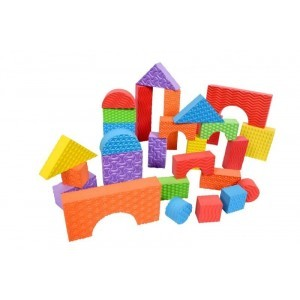 Foam Building Blocks – Textured 60 Piece Set
