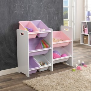Bin Storage Unit Pastel and White - Kidkraft (15471)