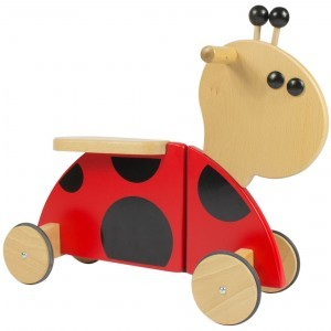 Wooden Sit 'n' Ride Ladybug Walking Bike RB01 - Gepetto