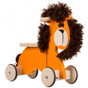 Wooden Sit 'n' Ride Lion Walking Bike RL01 - Gepetto