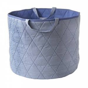 Gingham Toy Basket (Blue) - Kiddiewinkles (BLUEGTB)