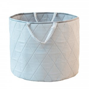 Gingham Toy Basket (Grey) - Kiddiewinkles (GREYGTB)
