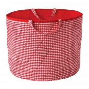Gingham Toy Basket (Red) - Kiddiewinkles (REDGTB)