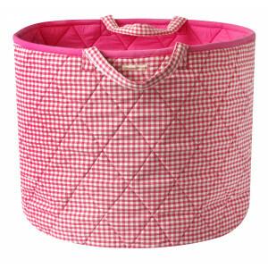 Gingham Toy Basket (Pink) - Kiddiewinkles (PINKGTB)