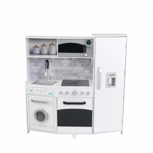 Large Play Kitchen with light and sound (white) - Kidkraft (53369)