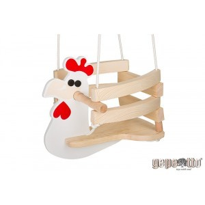 Wooden Baby Swing Chicken - Gepetto HC00