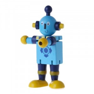 Jointed wooden robot