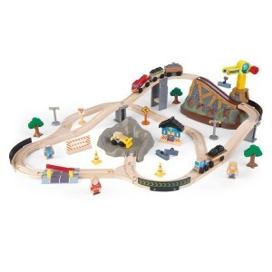 Wooden Bucket Top Construction Train Set - Kidkraft (17805)