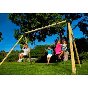 Wooden Colobus Swing - Plum (7092045)