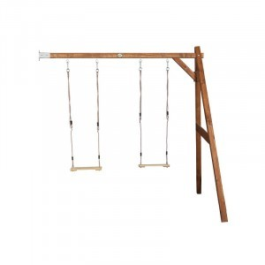 Wooden Double Wall Swing (brown) - AXI